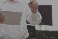 Robić plan biznesowy grafice Zdjęcia Stock