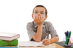robić praca domowa jego ucznia Zdjęcia Stock