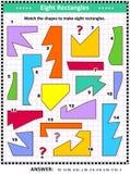 Robi prostokąt matematyki obrazkowi intrygować ilustracji