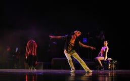 Robi pustemu przedstawieniu siła dyrektora tożsamość tango tana dramat Obraz Royalty Free