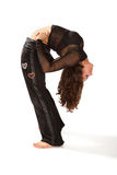 robi rozciąganie elastycznej kobiety tylny chył Obrazy Stock