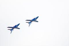 robić samolotów cywilni robi manoeuvres Zdjęcie Royalty Free