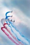 robić samolotów cywilni robi manoeuvres Zdjęcie Stock