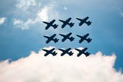 robić samolotów cywilni robi manoeuvres Fotografia Stock