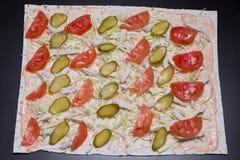 Robić shawarma Obraz Royalty Free