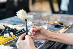 Robić sztucznego kwiatu Fotografia Stock