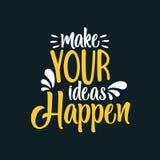 Robi Twój pomysłom Zdarzać się ilustracji