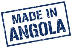 robić w Angola znaczku Obrazy Royalty Free
