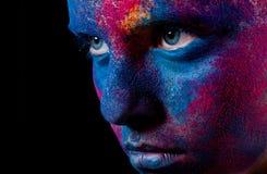 robi w górę kobiety farba portretowi obraz royalty free