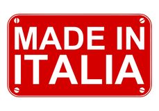 Robić w Italia znaku Zdjęcia Royalty Free