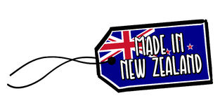 Robić w Nowa Zelandia etykietce Obrazy Royalty Free