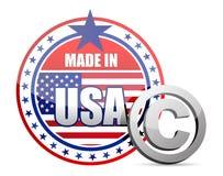 Robić w usa flaga foce z prawo autorskie znakiem Zdjęcia Stock