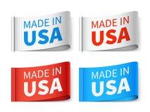 Robić w usa tekstylnych etykietkach, mody etykietki wektoru set Obraz Stock