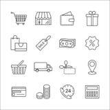 Robić zakupy Kreskowe ikony Zdjęcie Stock