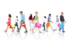Robić zakupy zakupu Detalicznego klienta sprzedaży Konsumpcyjnego pojęcie Zdjęcia Royalty Free