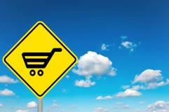 Robić zakupy znaka Zdjęcie Royalty Free
