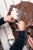 Robienie bożego narodzenia ciastku Obrazy Stock