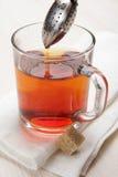 Robienie herbaty z herbacianym infuser Obrazy Stock