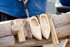 Robienie Holendera Tradycyjna but umiejętność Zdjęcie Stock
