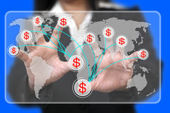robienie pieniądze światowi Zdjęcie Stock