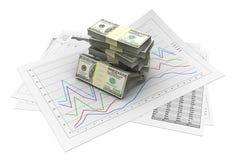 Robienie pieniądze ilustracji