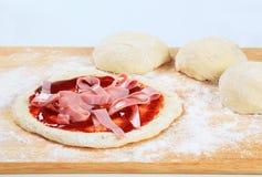 robienie pizzy Fotografia Stock