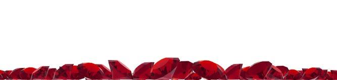 Robijnrode gemmen royalty-vrije illustratie