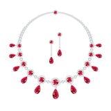 Robijnrode juwelen Royalty-vrije Stock Afbeelding
