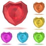 Robijnrood hart Stock Foto