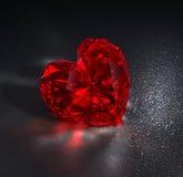 Robijnrood hart Stock Fotografie