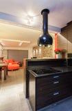 Robijnrood huis - kooktoestel royalty-vrije stock foto