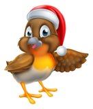 Robin Bird Christmas Cartoon Photographie stock