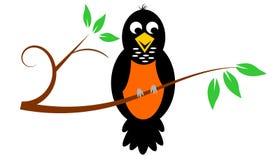 Robin On Branch illustrazione vettoriale