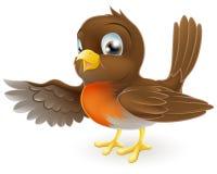 Robin che indica illustrazione Fotografia Stock