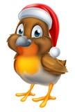 Robin Christmas Bird Cartoon Royalty Free Stock Images