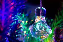 Robin Christmas Ornament di vetro Immagine Stock Libera da Diritti