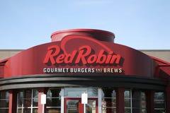 Robin Gourmet Burgers rojo Foto de archivo