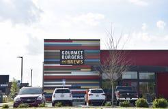 Robin Gourmet Burgers rosso e miscele, Jacksonville, Florida immagine stock