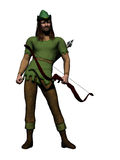 Robin Hood. Digital render of the famous English outlaw, Robin Hood Stock Photo