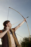 Robin Hood. Archer with arrow and long bow Royalty Free Stock Photos