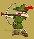 Robin Hood auf weißem BG stock abbildung