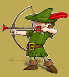 Robin Hood auf weißem BG Stockfotografie