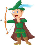 Robin hood cartoon Royalty Free Stock Photography