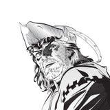 Robin Hood Defensor de débil Leyendas medievales Héroes de leyendas medievales Fondo de semitono stock de ilustración