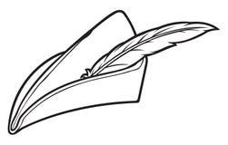 Robin hood hat. Symbol,  sign stock illustration