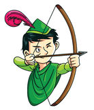 Robin Hood. Ilustrator design .eps 10 stock illustration