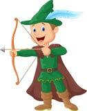 Robin Hood Karikatur Lizenzfreie Stockfotografie
