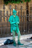 Robin Hood living statue, Granada. Royalty Free Stock Photo
