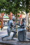 Robin Hood and Maid Marian statues. Royalty Free Stock Photos