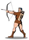 Robin Hood mit Pfeil Stockfoto